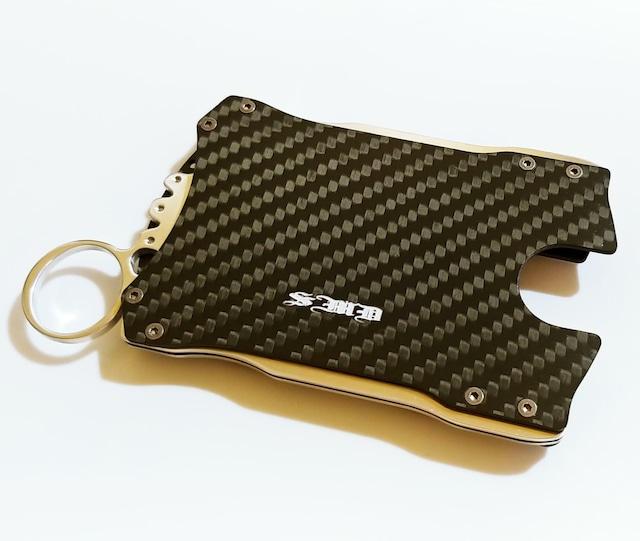 【カードケース&ウォレット(財布)】 落ち着いたマットカーボン製 / おしゃれな男性へのプレゼントとしても