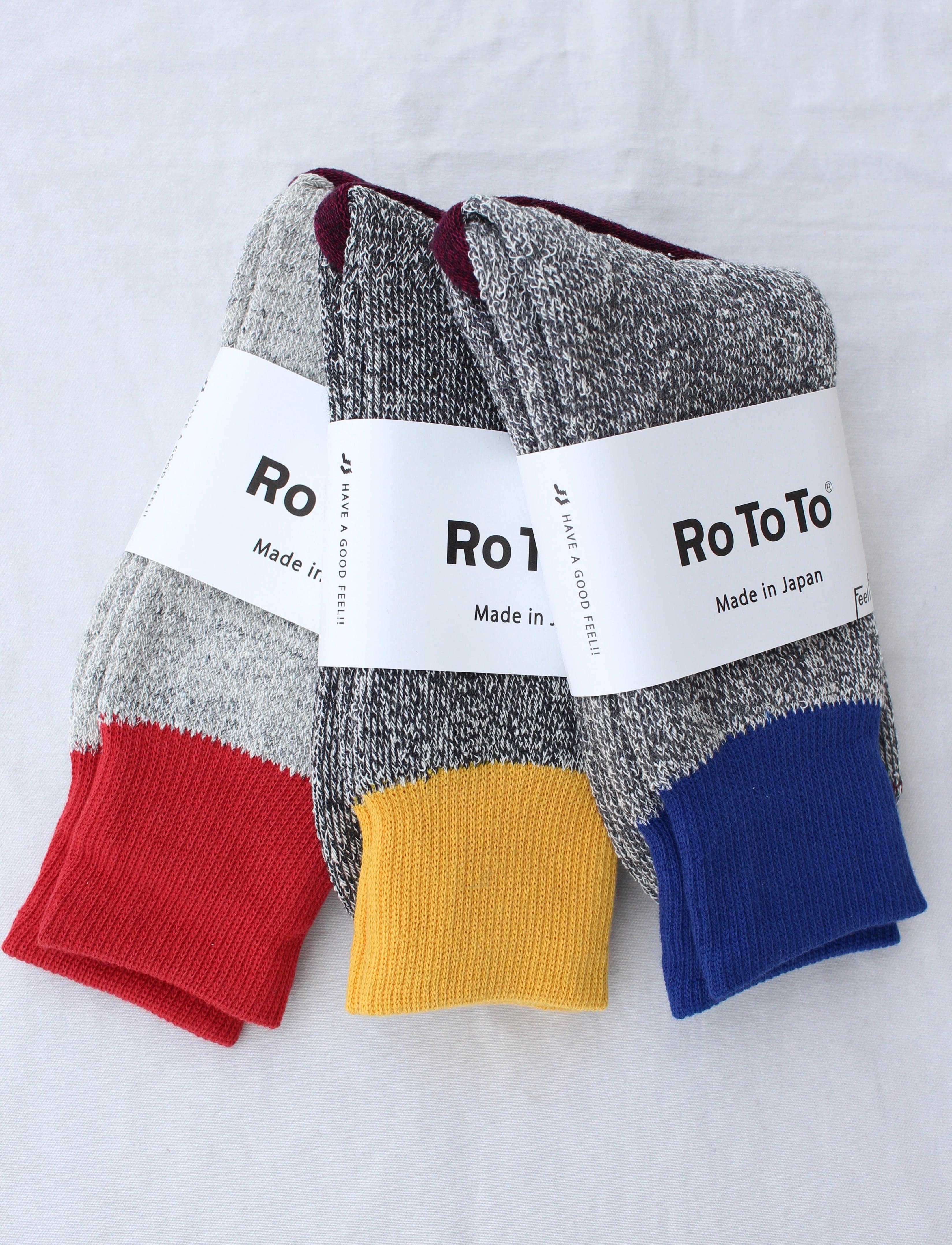 ROTOTO(ロトト)/ Double Face Socks   Silk & Cotton(ダブルフェイス ソックス シルク&コットン)