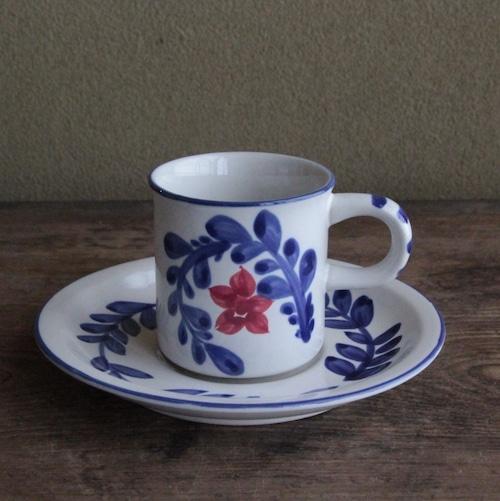 ロジエ 花柄のカップアンドソーサー  在庫3客