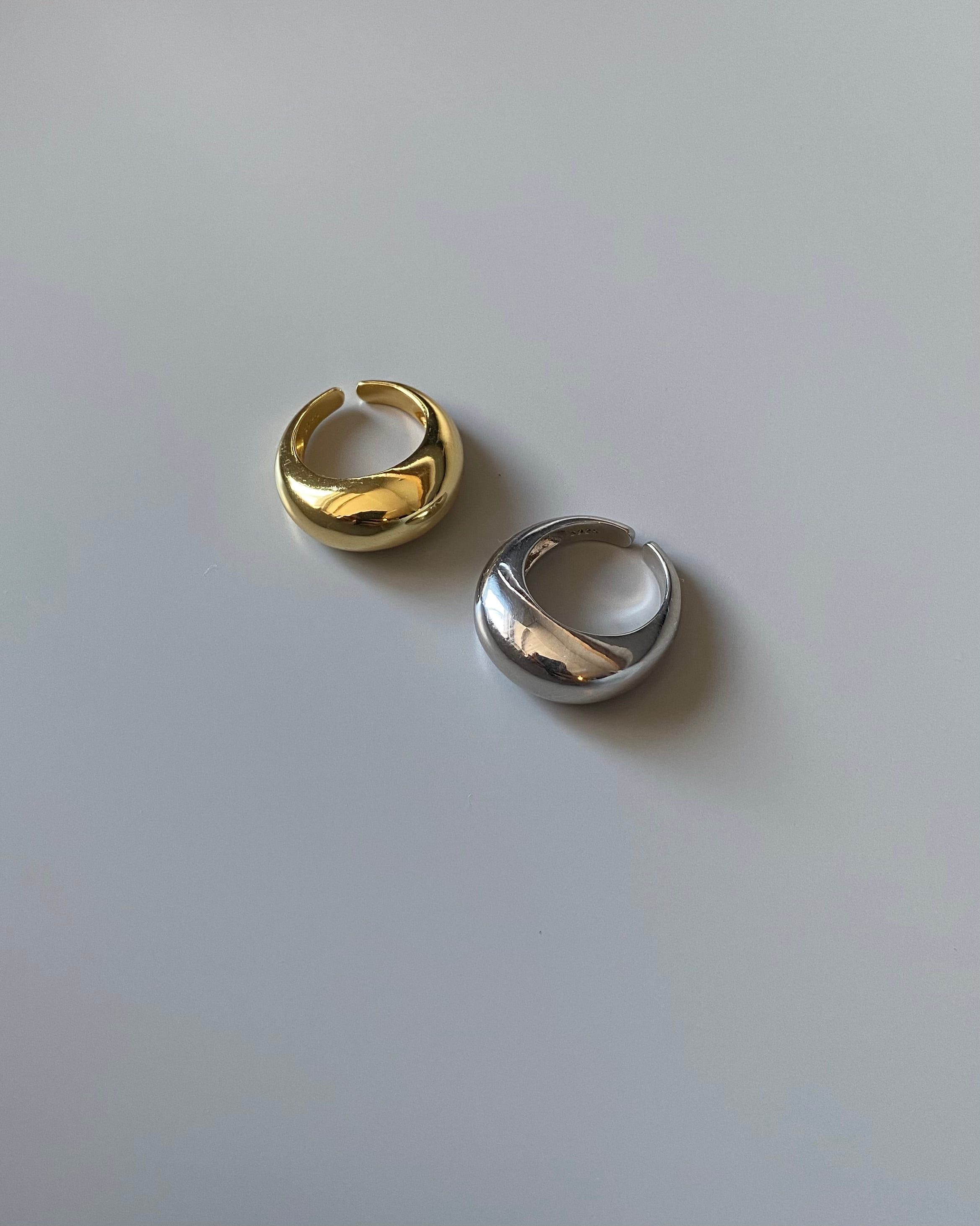 silver925 volume ring 2color