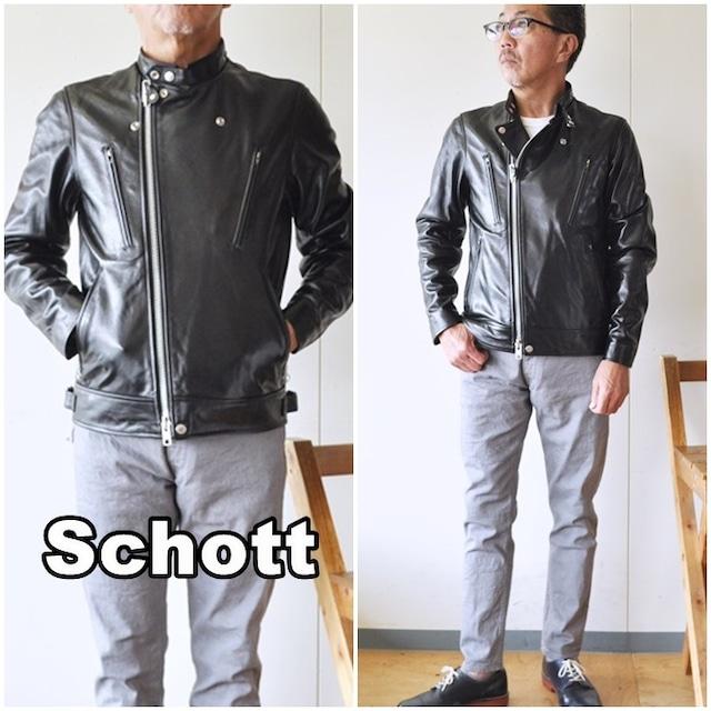 ショット  Schott  ライダースジャケット  革ジャン  正規販売店 ショット  ダブルライダースジャケット  ダブルブレストライダース シープスキン  3101048