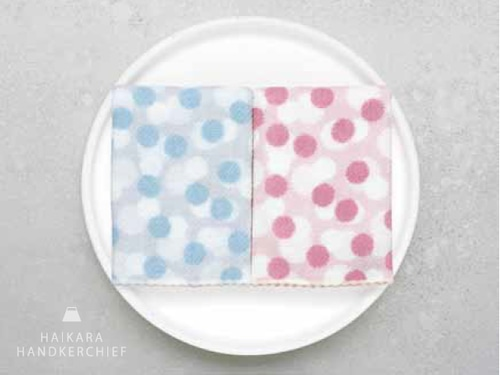 コンテックス ハイカラハンカチーフ ゆきわ ブルー/ピンク