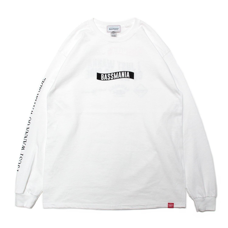 ロゴパターンロングスリーブTシャツ [ホワイト]