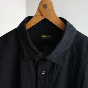 classic premiumlinen tailor shirt / black