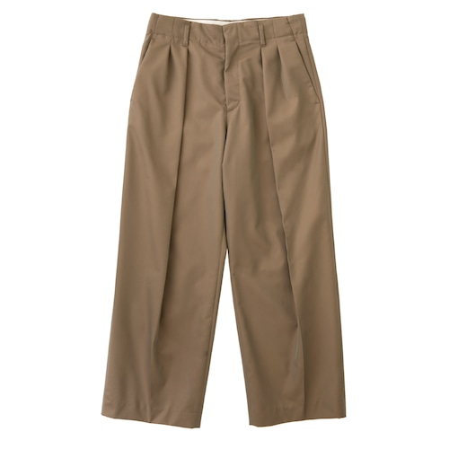 GABARDINE DOUBLE TUCK PANTS / ギャバジンダブルタックパンツ(BEG)