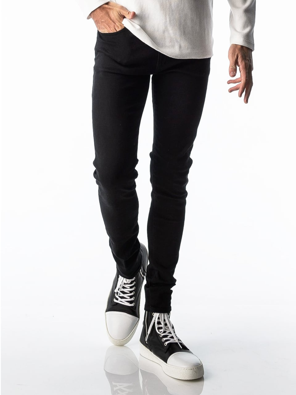 RESOUND CLOTHING (リサウンドクロージング) LOAD DENIM / BLACK O/W BASIC-SSK-004-2