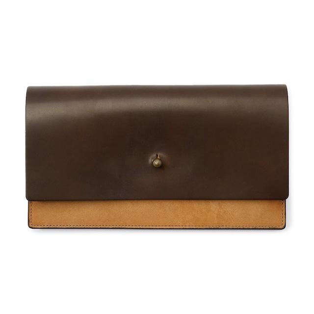forme Long wallet Cordvan dark cognac