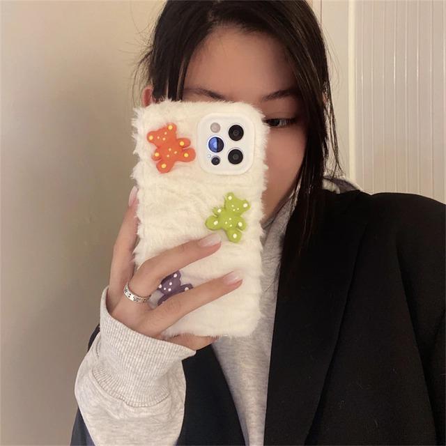 MokoMoko color bear iphone case