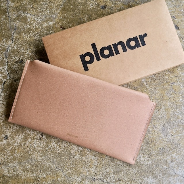 Planar  Recycled Leather Envelope Wallet