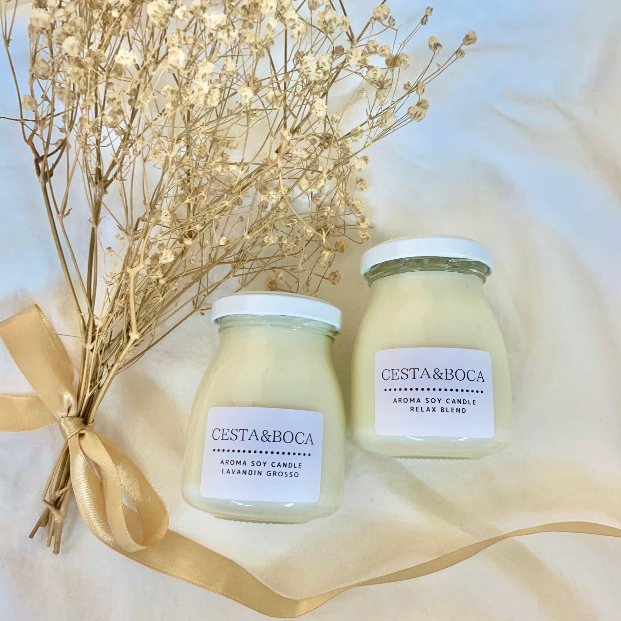 CESTA&BOCA アロマソイキャンドル (3種類の精油からお選びいただけます)
