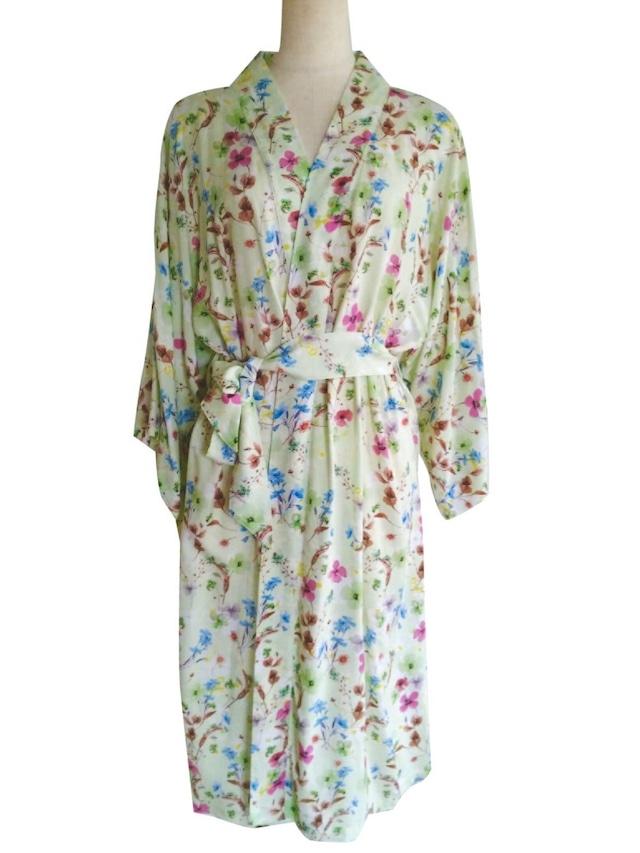 Kimono Robe Midium length Oriental garden ローブミディアム丈 オリエンタルガーデン