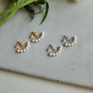 Crescent Pearl Earring [WM-ER001]