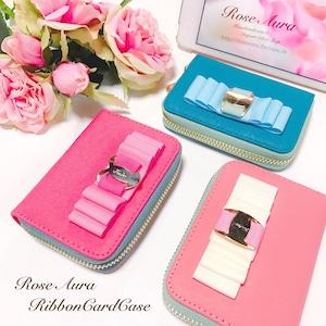 C♡本革バイカラーカードケース