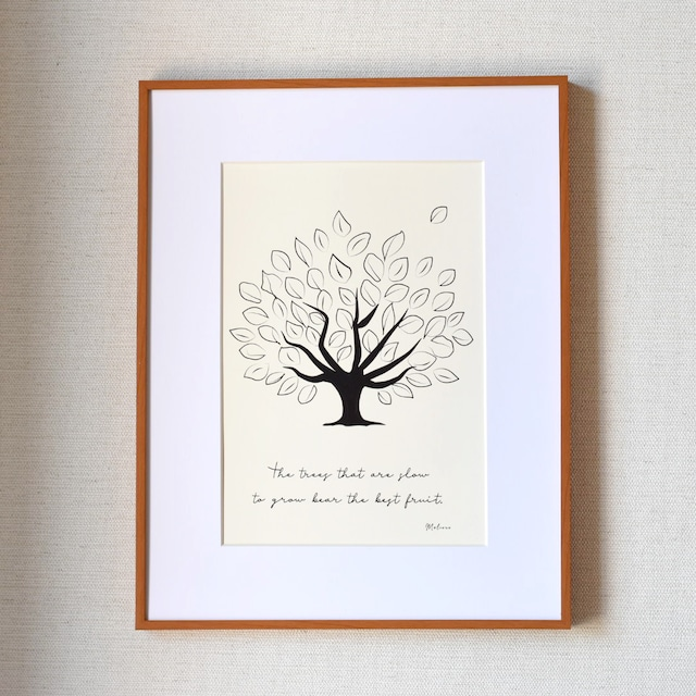 爽やかな木のポスター♪ ナチュラルカラー版 A4 グリーン インテリア  北欧 おしゃれ