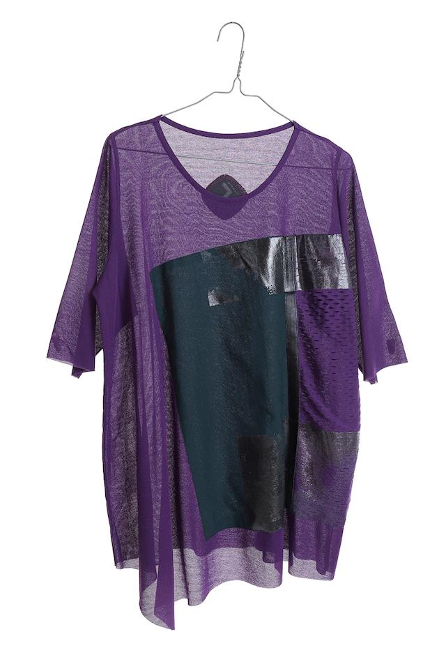 [売約済]lady's KABUKUチュニック[着るアート]WEARABLE ART KABUKU TUNIC purple [送料/税込]