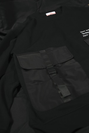 KB. W POKET ARMY BIG SWEAT [BLACK]