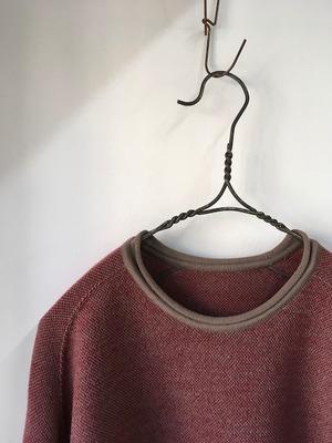 DA'S / RFB Sweater(ダズのウールセーター)/rosybrown