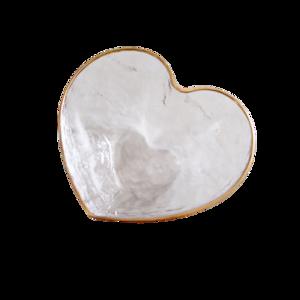 Gold line glas heart bowl / ゴールドラインガラスハートボウル