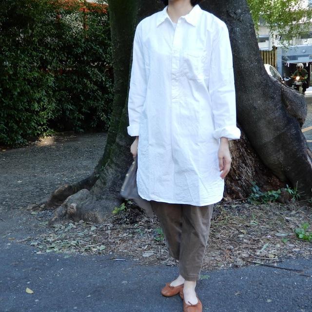 スウェーデンタイプ グランパシャツ ホワイト