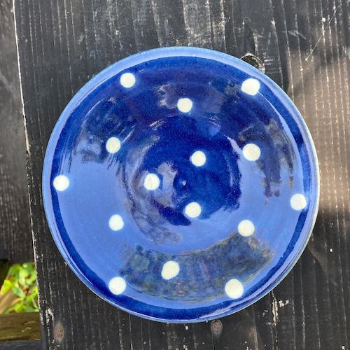 5寸皿一枚焼き/呉須蝋白抜き