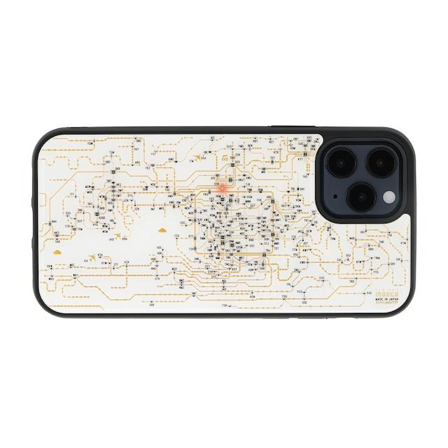 FLASH 関西回路線図 iPhone 12 / 12 Pro ケース  白【東京回路線図A5クリアファイルをプレゼント】