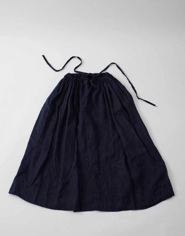 Bustle Linen Long Skirt
