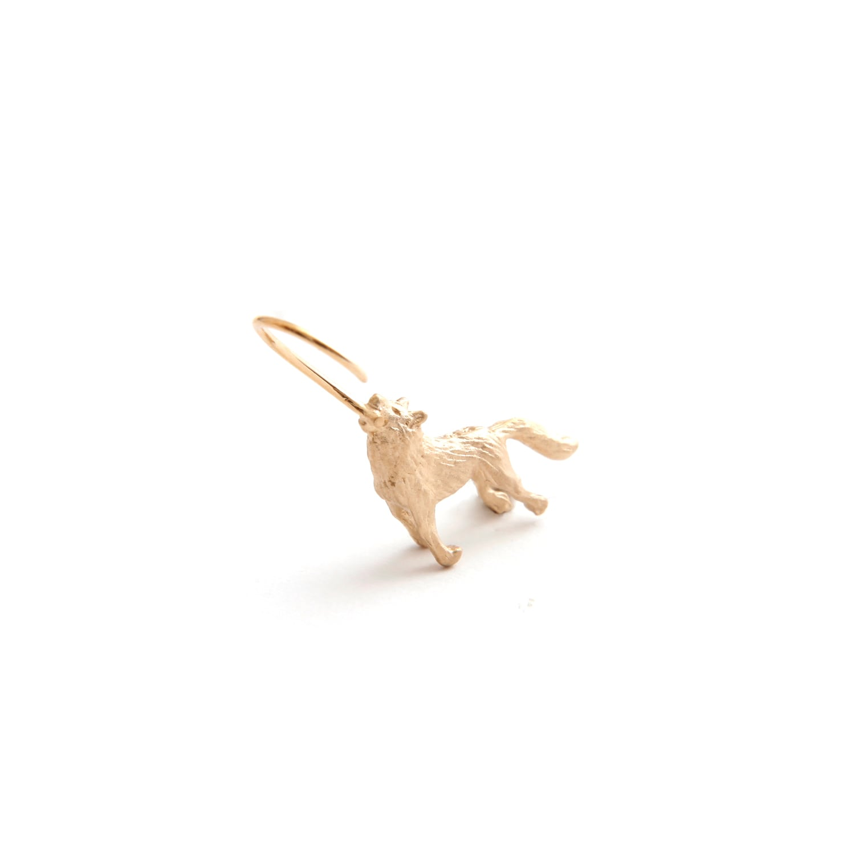 simmon/Wolf Body Hook Pierce_Gold_Right(片耳)