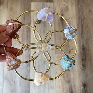 Ariana Ost フラワーオブライフ Chakra Balancing Flower of Life Healing Crystal Grid 神聖幾何学