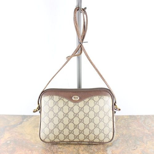 .OLD GUCCI GG PATTERNED SHOULDER BAG MADE IN ITALY/オールドグッチGG柄ショルダーバッグ2000000051956