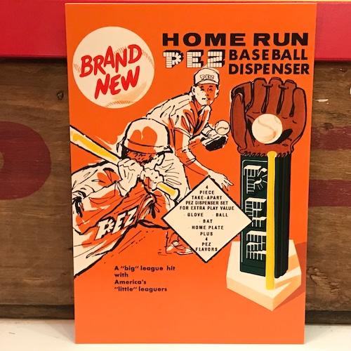 PEZ ペッツ ポストカード (厚紙仕様) ベースボール U.S.A.製 2003年