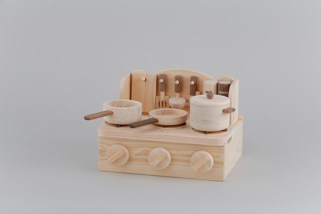ミニキッチン MINI KITCHEN ※送料無料  | 木のおもちゃ 誕生日祝い ままごとキッチン