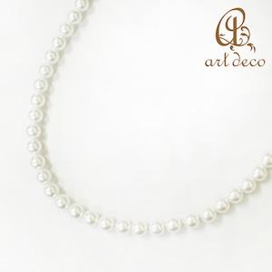 アクセサリー パーツ パール 8mm ネックレス 両穴 100個 ホワイト 白 ハンドメイド オリジナル 材料 金具 装飾 [prl-0008a]