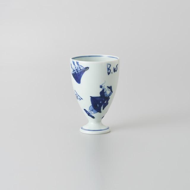 """【青花】""""異人づくし"""" フリーカップ[小]"""