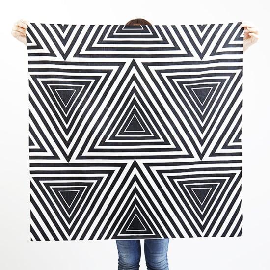 furoshiki/black × kaleidoscope ハネルカ風呂敷 / 墨 x 万華鏡