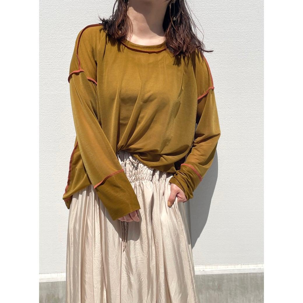 【sandglass】 reversy espandy long sleeve(gold) / 【サンドグラス】リバーシー エスパンディー ロング スリーブ(ゴールド)