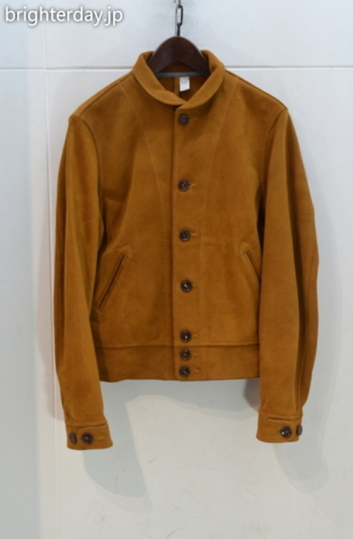 MISTER FREEDOM × SUGAR CANE COWHIDE LEATHER CAMPUS JOHNNY JACKET