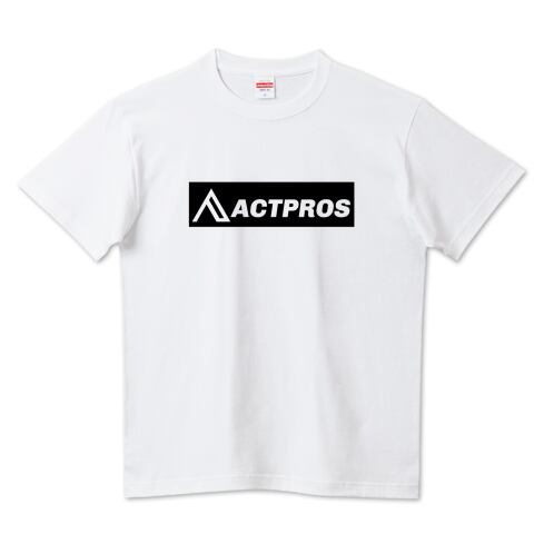 【KID'S】ACTPROS ボックスロゴ 5.6ハイクオリティーTシャツ(United Athle) ホワイト【9colors】