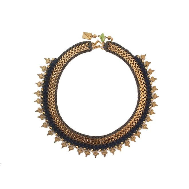 Maya-Bazaar ネックレス ヴィンテージロマン ブルー×グレー