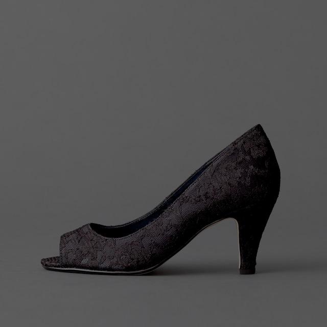 Lace / Open Toe / 7cm / BK 【7004 BK】