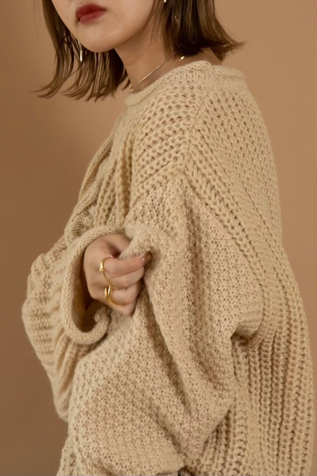 cable change pattern knit