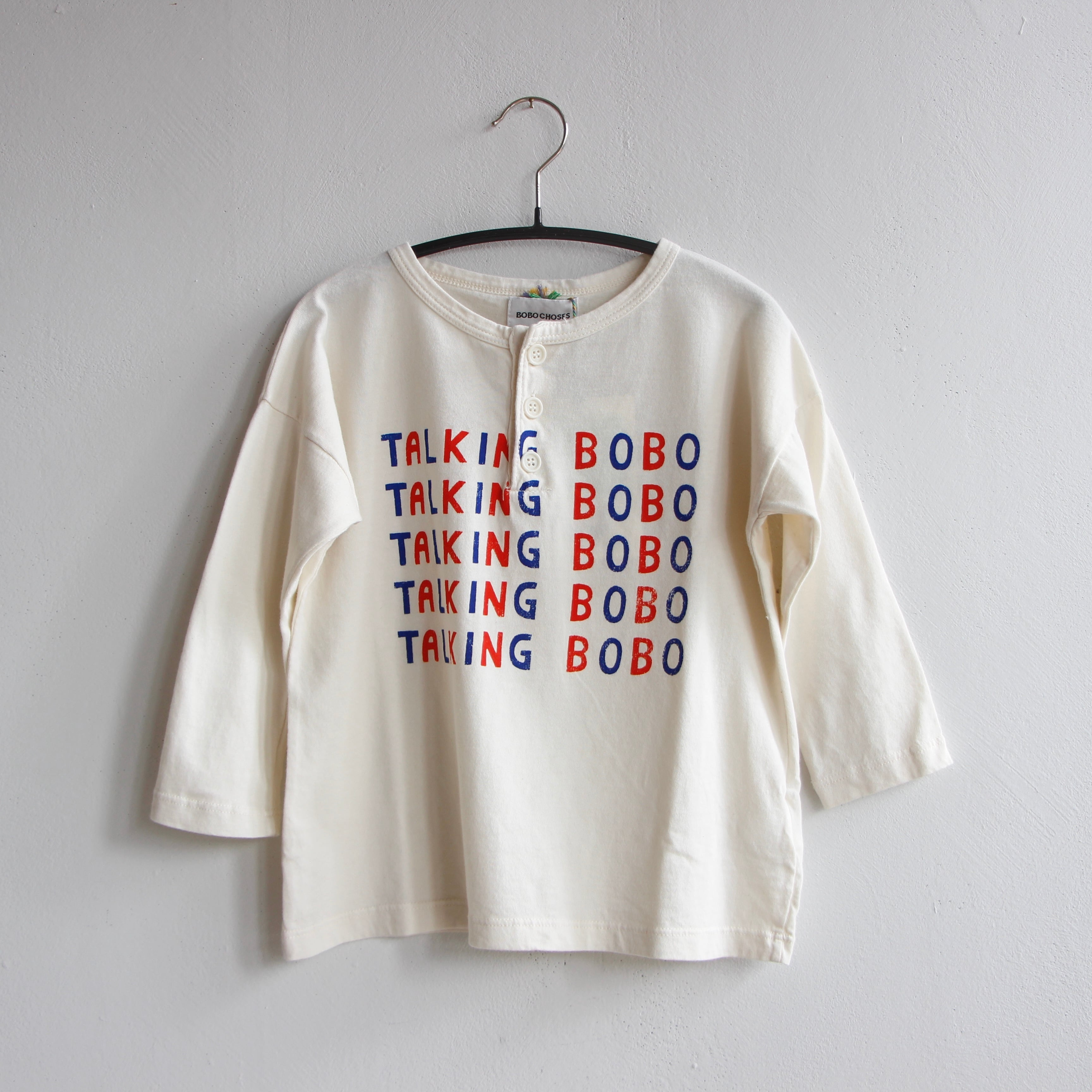 《BOBO CHOSES 2021AW》Talking Talking buttoned T-shirt / 2-11Y