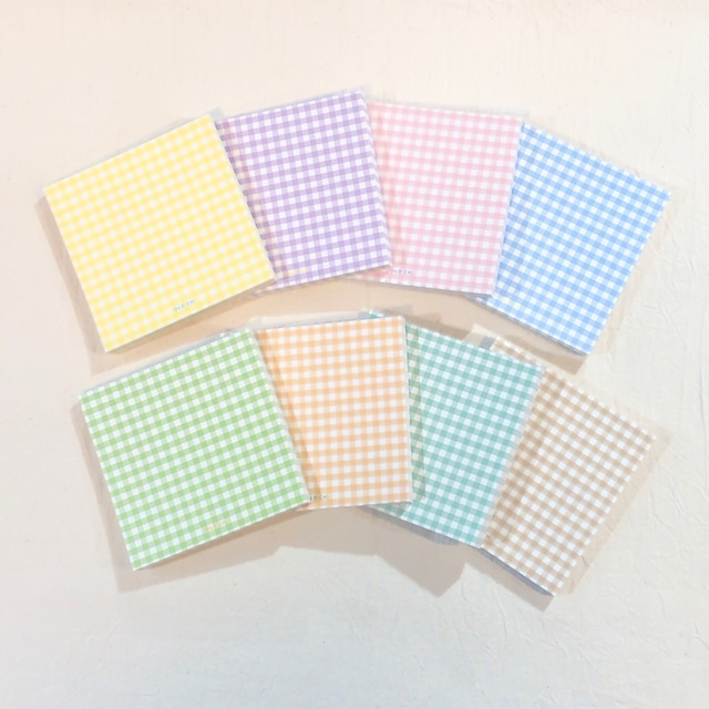 [OLD CHANNEL] GINGHAM MEMO PAD (全8色)