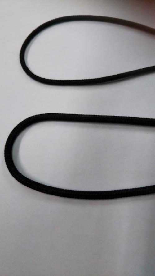 ナイロンコード 芯入り 3㎜径 黒 1m単位