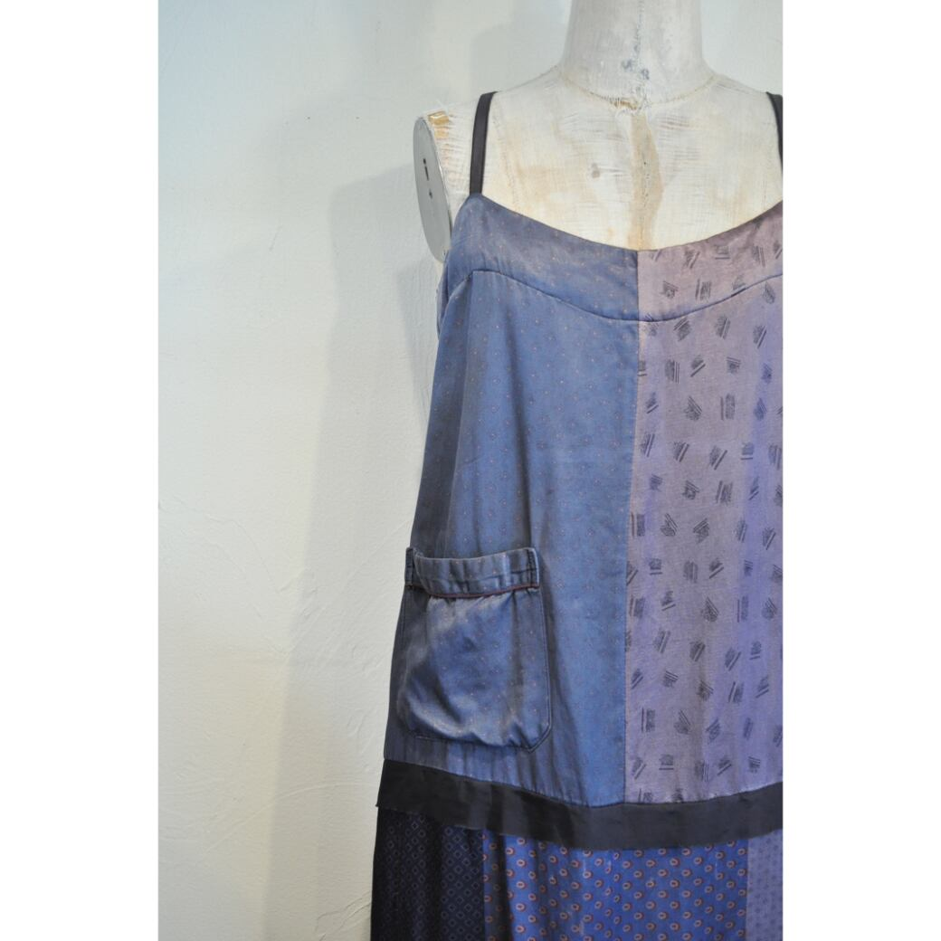 【RehersalL】 pajamas patch camisole onepiece(midnight) /【リハーズオール】パジャマパッチキャミワンピース(ミッドナイト)