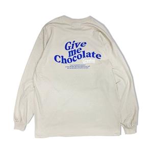 Chocolate Free Draw logo L/S Shirts【Sand】