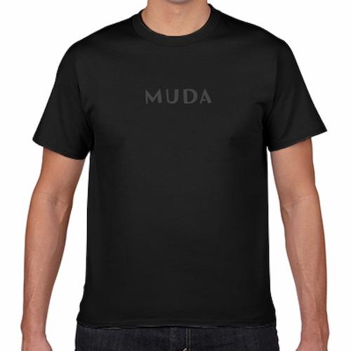 とうふめんたるずTシャツ(MUDA・黒)