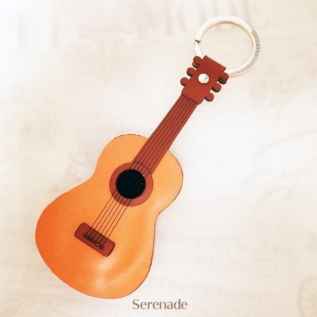 イタリア製 ギター レザーキーホルダー 本革 DALLAITI