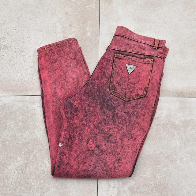 90's Color chemicalwash denim pants