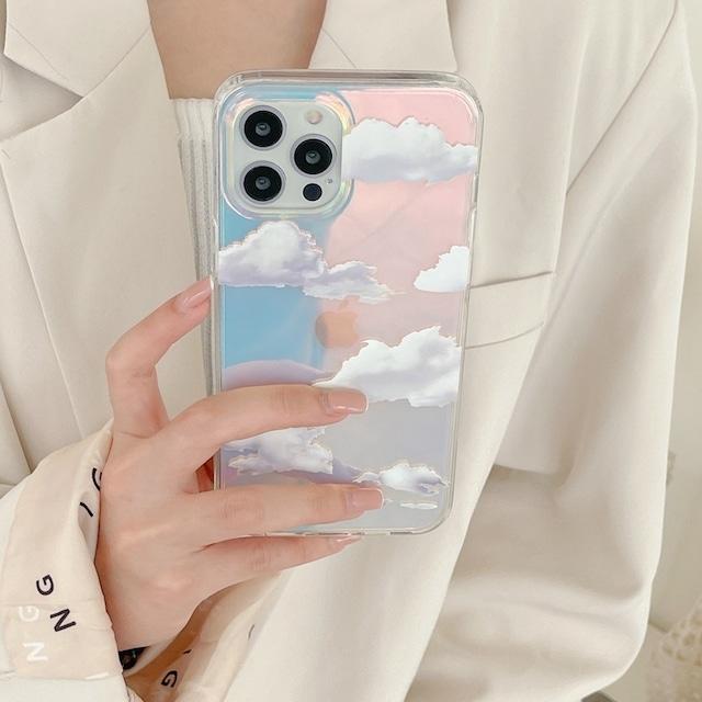 laser blue sky iphone case