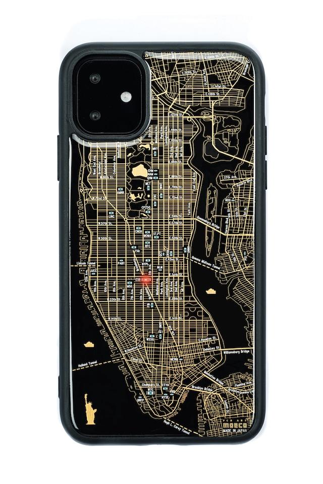 FLASH NY回路地図 iPhone 11 ケース  黒【東京回路線図A5クリアファイルをプレゼント】